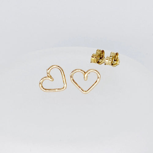 Heart Posts | 14kt Gold Filled Heart Shaped Stud Earrings