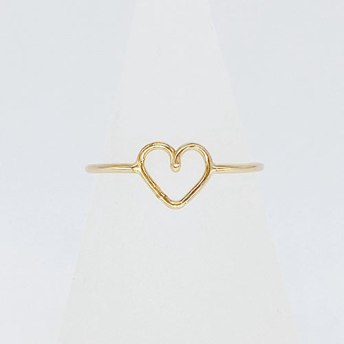 Perfect Heart Ring | 14kt Gold Filled Ring