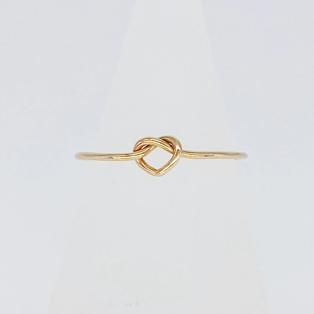 Love Knot Ring | 14kt Gold Filled Ultra Thin Ring