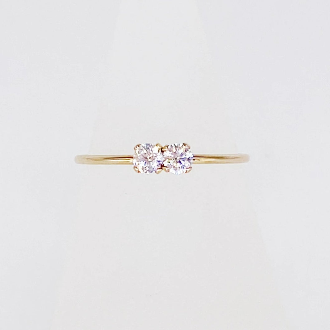 Queens Ring | 14kt Gold Filled 3mm Double CZ Ring