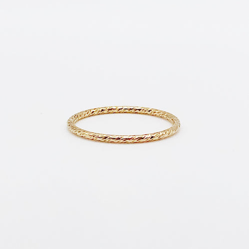 Sparkle Midi Ring | 14kt Gold Filled Stackable Glitter Knuckle Ring