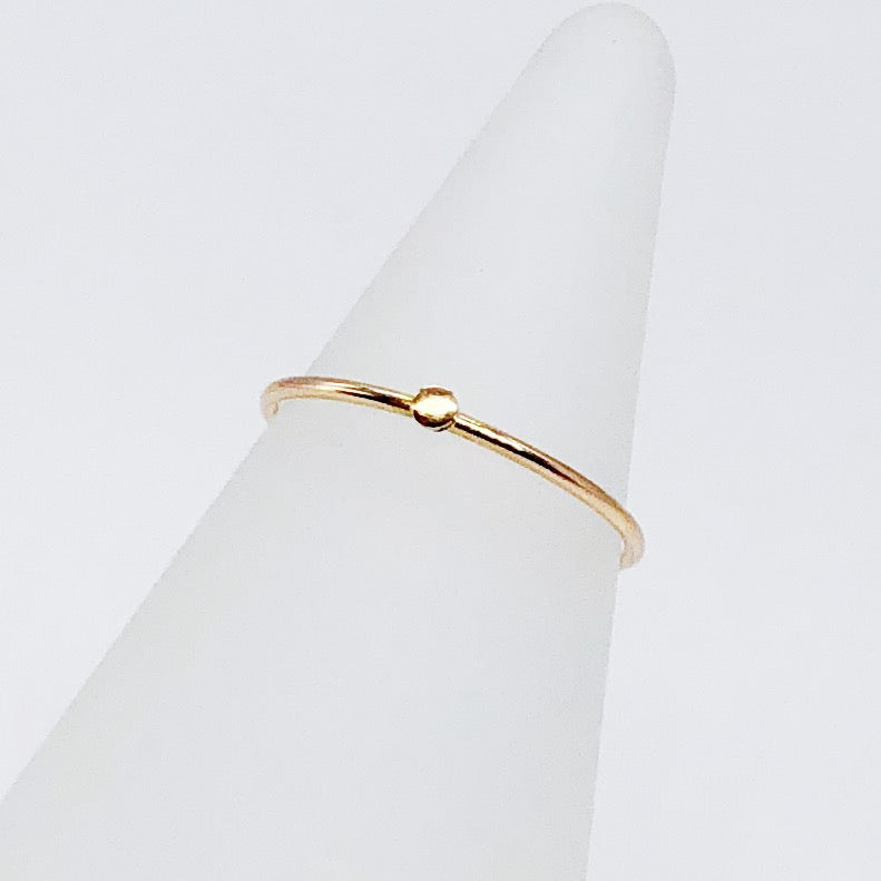 Speckle Midi Ring | 14kt Gold Filled Stackable Pinprick Knuckle Ring