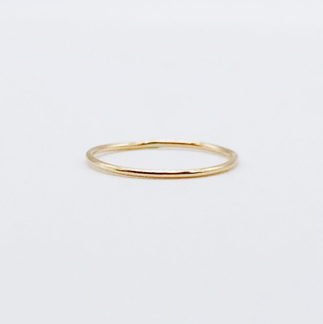 Super Thin Ring | 14kt Gold Filled 1mm Stacking Ring