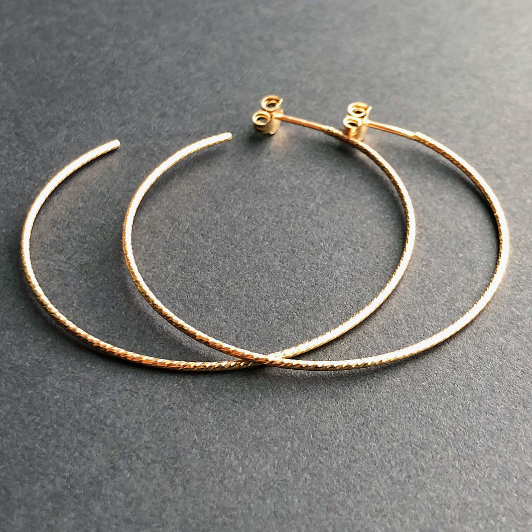 14kt gold filled sparkly hoop earrings
