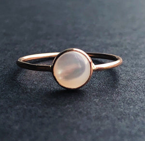 14kt gold filled mother of pearl ring