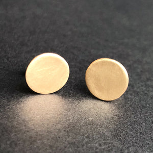 14kt gold filled matte coin stud earrings