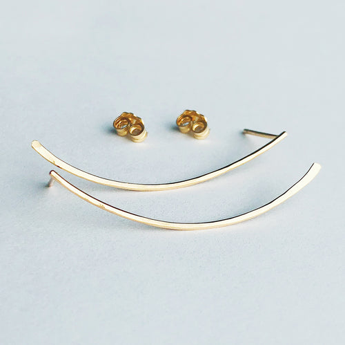 14kt gold filled windswept strand stud earrings