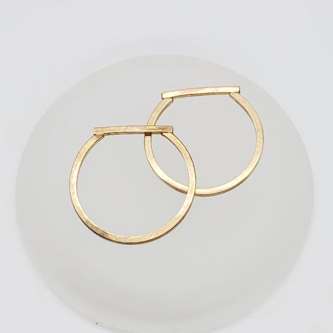 Truncate Ring | 14kt Gold Filled Slim Matte Gold Bar Ring