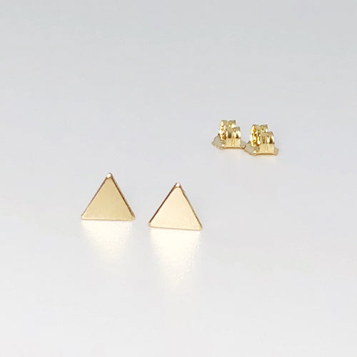 Triangle Studs | 14kt Gold Filled Triangle Shaped Stud Earrings