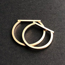 14kt gold filled matte truncate slim bar ring