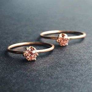 14kt gold filled ethical morganite CZ engagement ring