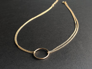 "O Choker | 14kt Gold Filled Double Strand ""O"" Choker Necklace"
