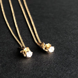 "Stud Dusters with 5"" of chain - 14kt gold filled jewelry"