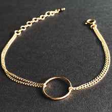"O Bracelet | 14kt Gold Filled Double Strand ""O"" Layering Bracelet"