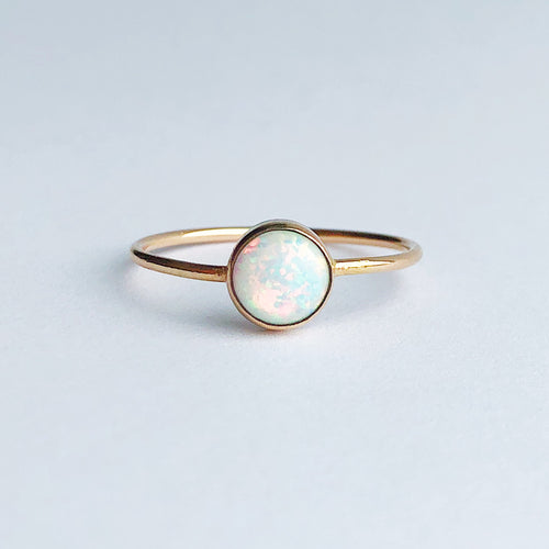 14kt gold filled opal ring