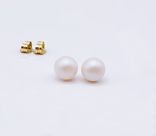 Perfect Pearl Studs | 14kt Gold Filled 6mm Pearl Earrings