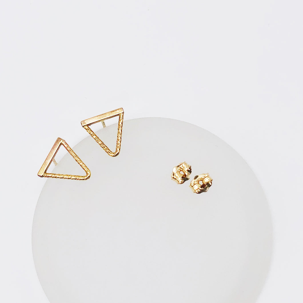 Slice Posts | 14kt Gold Filled Triangle Stud Earrings