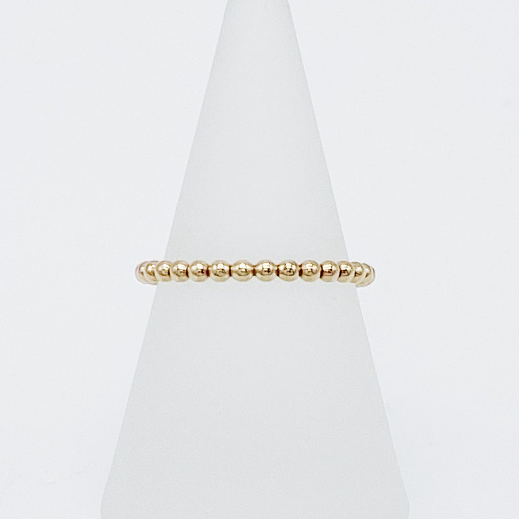 Beaded Ring | 14kt Gold Filled Stackable Ring