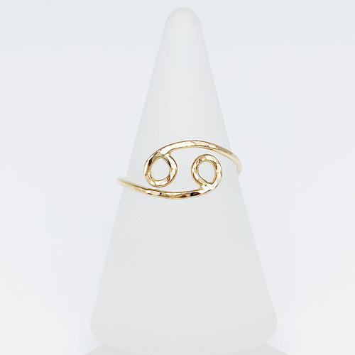 Cancer Ring | 14kt Gold Filled Zodiac Ring