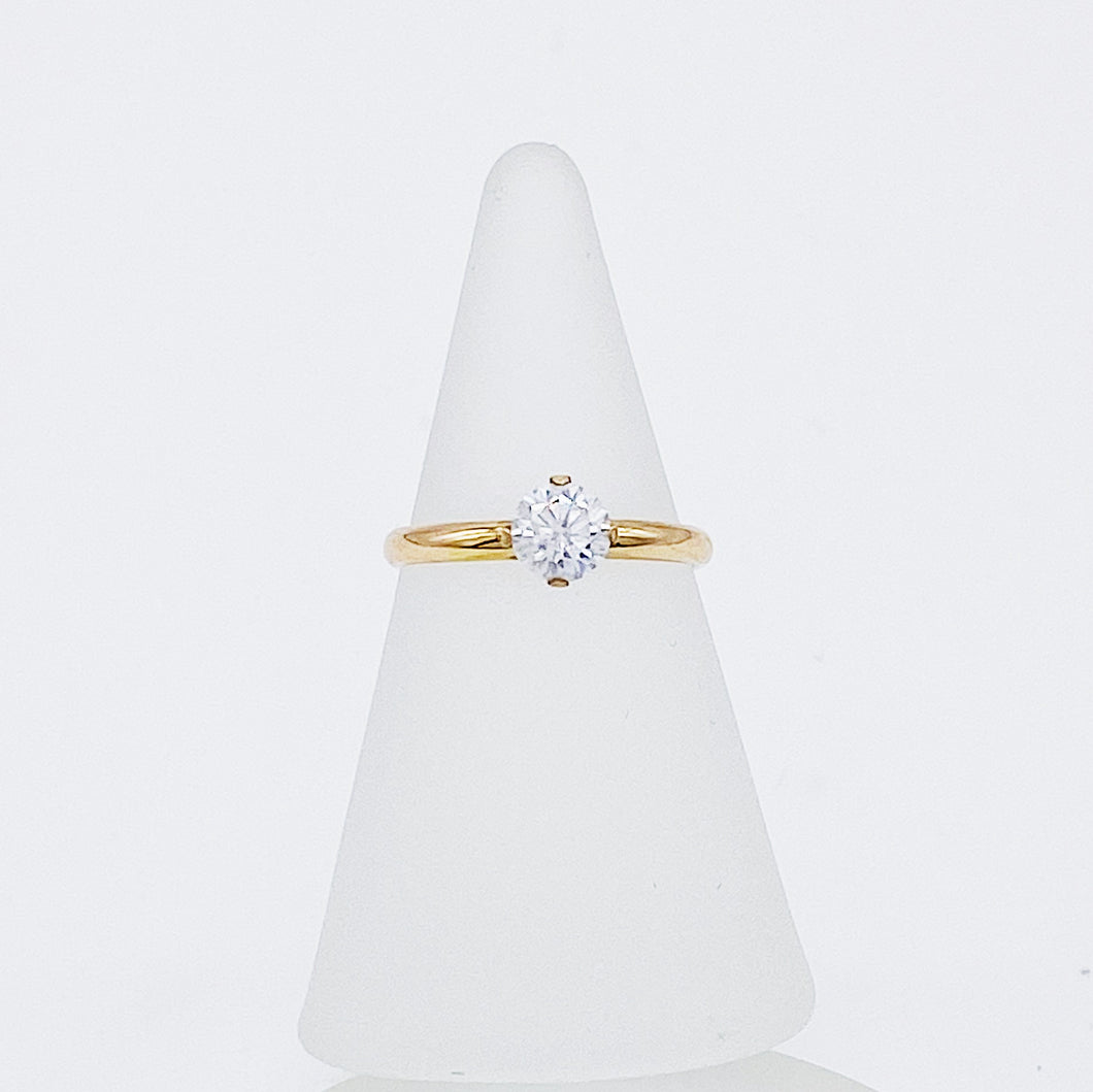 5mm Engagement Ring | 14kt Gold Filled Ethical Solitaire