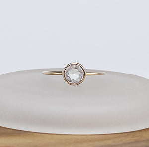 Halo Ring | 14kt Gold Filled 6mm CZ Ring