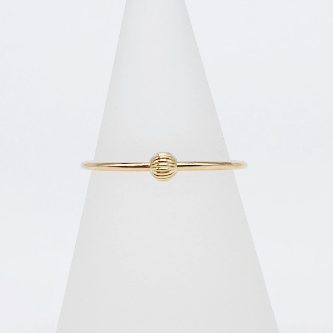 Anxiety Ring 1.0 | 14kt Gold Filled Corrugated Sliding Bead Fidget Ring