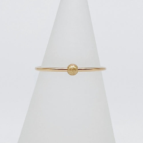 Anxiety Ring 2.0 | 14kt Gold Filled Textured Sliding Bead Fidget Ring
