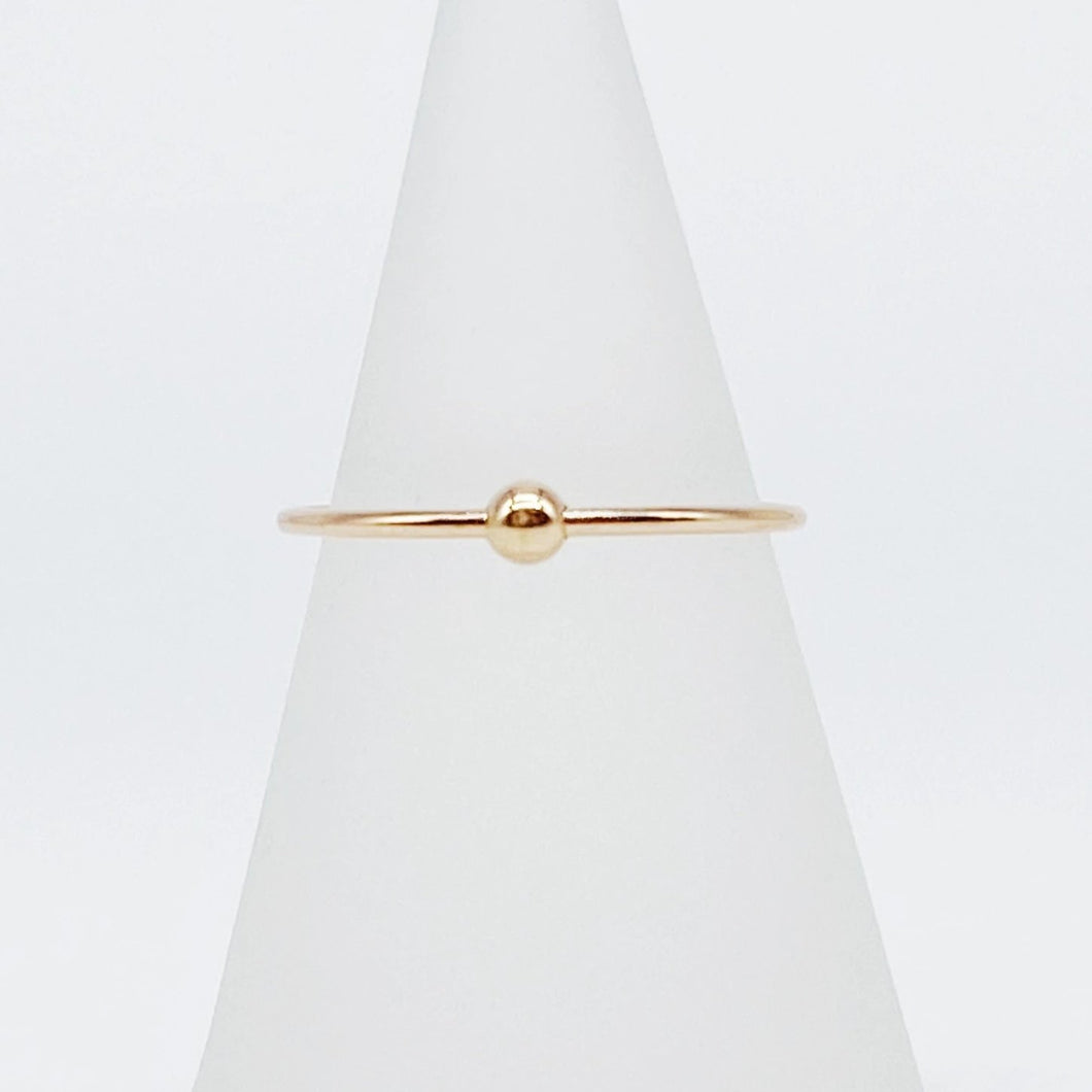 Anxiety Ring 3.0 | 14kt Gold Filled Smooth Sliding Bead Fidget Ring