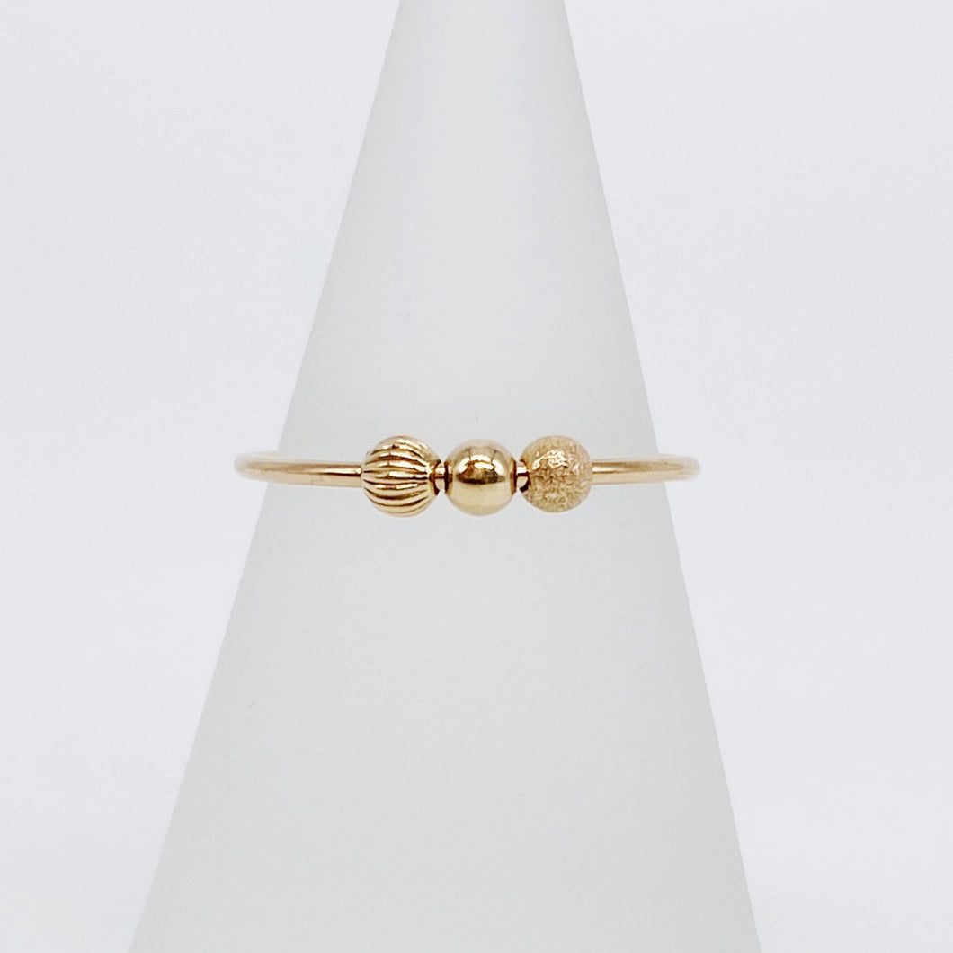 Anxiety Ring 4.0 | 14kt Gold Filled Sliding Bead Fidget Ring