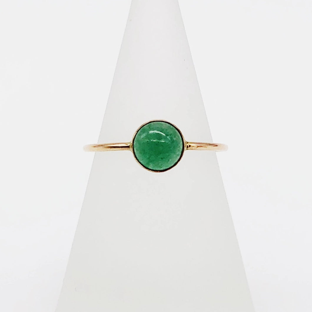 Aventurine Ring | 14kt Gold Filled 6mm Aventurine Ring