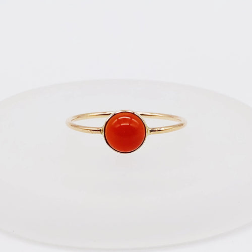 Carnelian Ring | 14kt Gold Filled 6mm Carnelian Ring