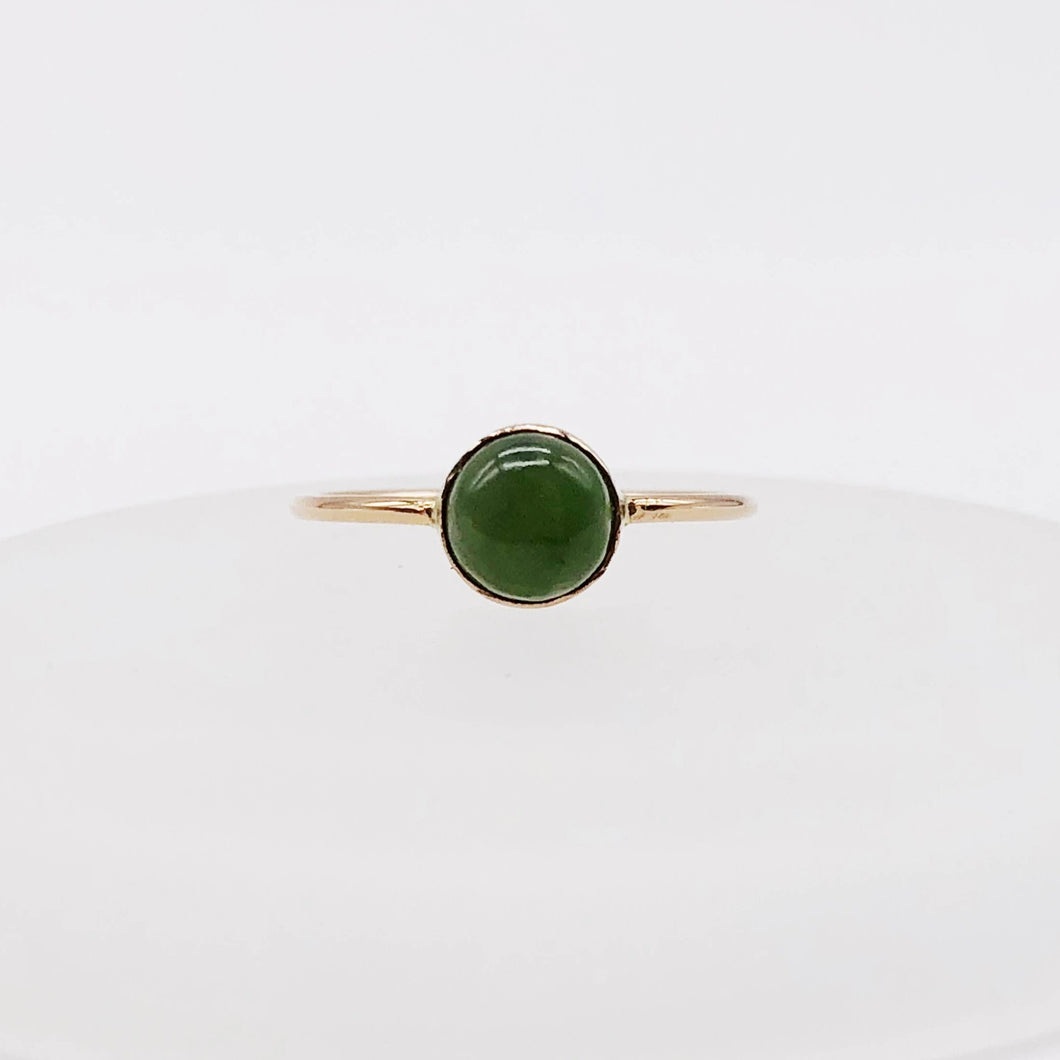 Jade Ring | 14kt Gold Filled 6mm Jade Ring