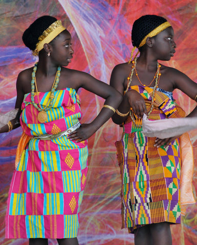 What do the colors in the kente cloth mean?