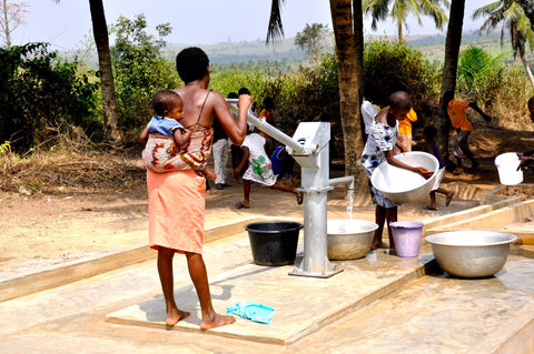 fetching water in africa