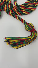 Load and play video in Gallery viewer, Kente Colors Matching Graduation 'Overcomer' Honor Cord