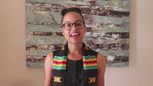 Load and play video in Gallery viewer, Black Girl Magic Class of 2021 Kente Cloth Graduation Stole