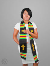 Load and play video in Gallery viewer, Christian (Usher, Clergy) Kente Cloth Stole