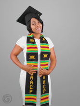 Load and play video in Gallery viewer, NAACP Kente Cloth Graduation Stole