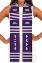 Load image into Gallery viewer, Customizable Black Graduation Kente Stole