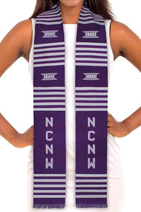 Customizable Black Graduation Kente Stole