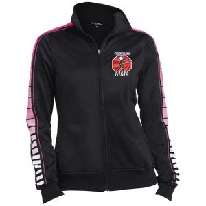 LST93 Sport-Tek Ladies' Dot Print Warm Up Jacket