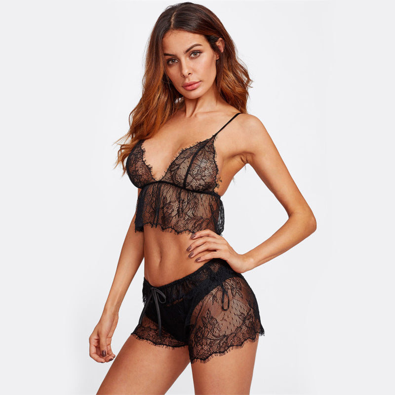 Gigi Galloon Lace Cami & Short Set
