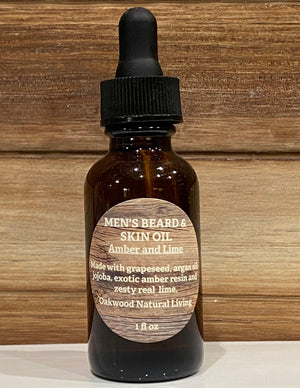 "Mens Beard & Skin Oil  "" Amber and Lime """