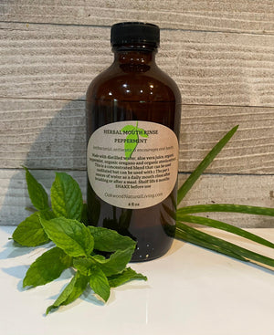 Peppermint Herbal Mouth Rinse