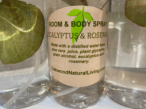 Eucalyptus & Rosemary Room and Body Spray