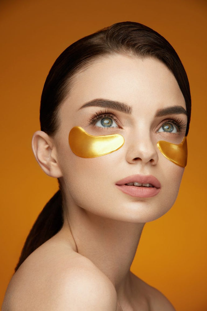 Gold under-eye anti-aging patches. 10 packets - Brighter Whiter