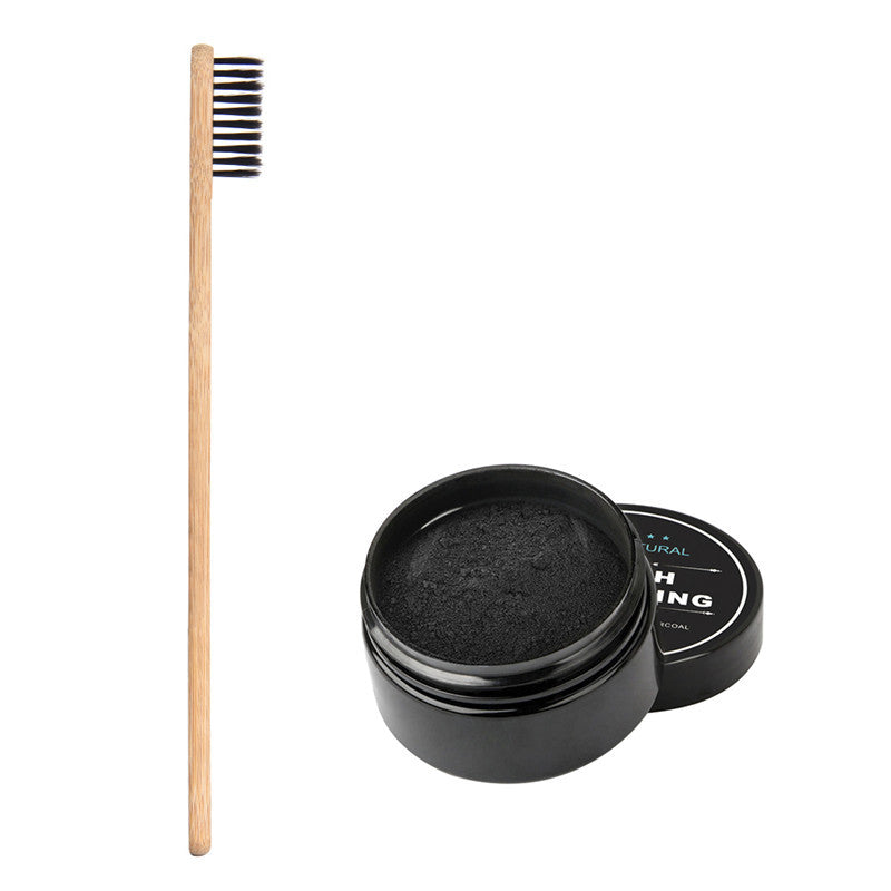 Charcoal Whitening Powder and Brush Combo