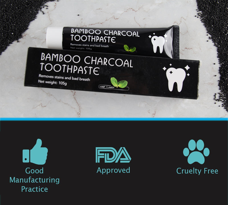 Whitening Charcoal Toothpaste - Clarcias