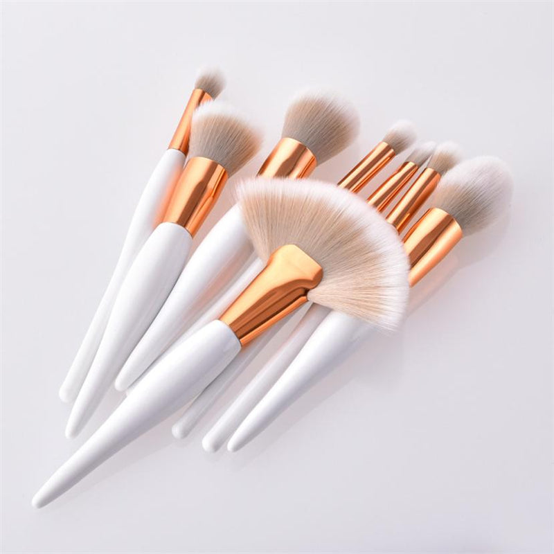 White Gold Makeup Brushes - Brighter Whiter