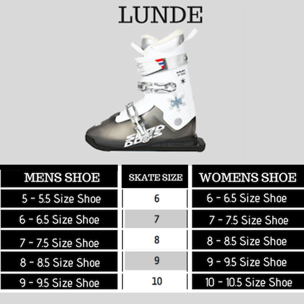 Lunde Size Chart